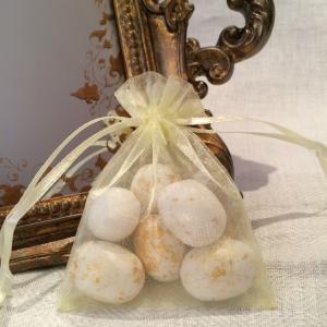 Yellow Organza Gift Bags - gula organzapåsar