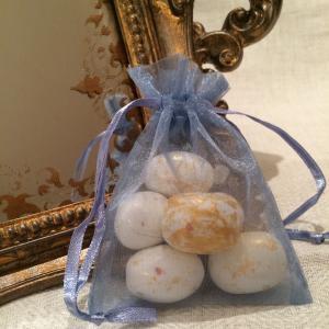 Periwinkle Organza Gift Bags - havsblåa organzapåsar