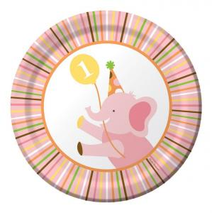 Sweet at One Birthday Girl Lunch Plates 17 cm