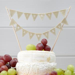 Just Married Cake Bunting - Vintage Affair