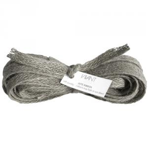 Grey Burlap Ribbon 10 mm