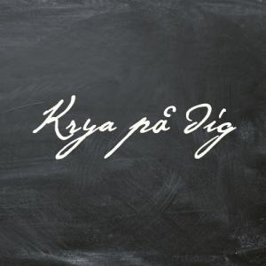 """Krya på dig"" textkort - litet"