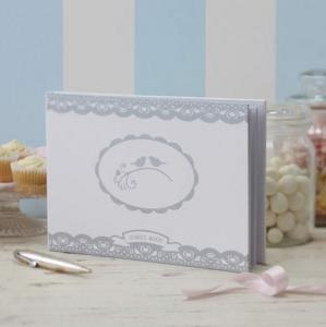 Wedding Guest Book - Vintage Lace