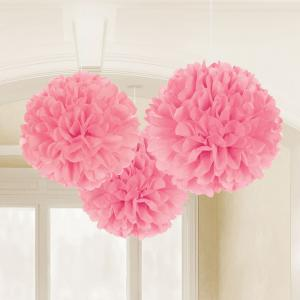 Light Pink Fluffy Tissue Paper Decorations