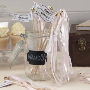Light Pink Wedding Wands - Vintage Affair