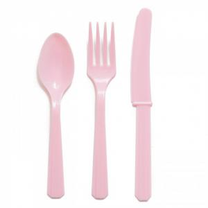 New Baby Pink Party Plastic Cutlery