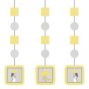 Modern Mommy Baby Shower Hanging Decorations