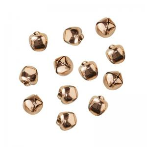 Rose Gold Bell Confetti Decorations - Metallic Star