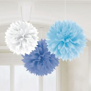 Multy Blue Fluffy Tissue Decorations