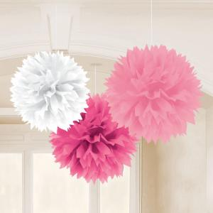 Multy Pink Fluffy Tissue Decorations