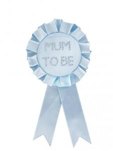 Baby Blue Mum to Be Rosette