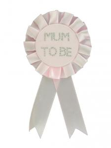 Baby Pink Mum to Be Rosette