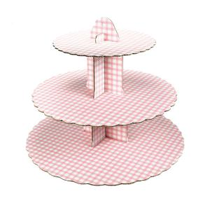 Pink Gingham Cupcake Stand