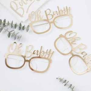Gold Foiled Oh Baby! Fun Glasses - Oh Baby!