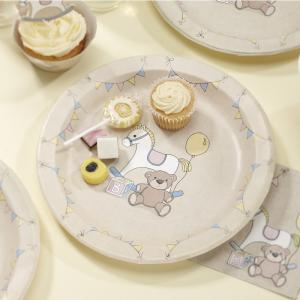 Paper Party Plates - Rock-a-bye Baby
