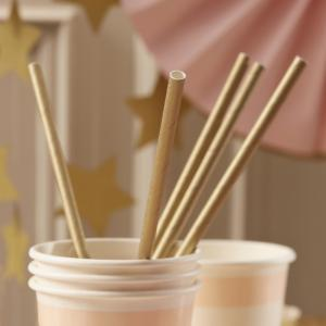 Paper Straws Gold - Pastel Perfection