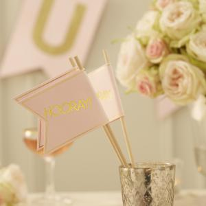 Pink & Gold Foil Flags - Pastel Perfection