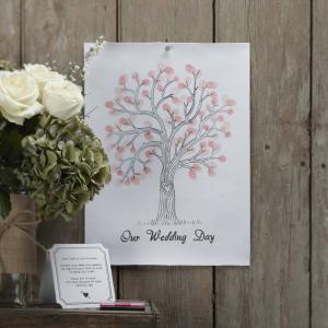 Pink Finger Print Tree - Vintage Affair
