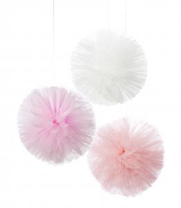 We Heart Pink Pom Poms