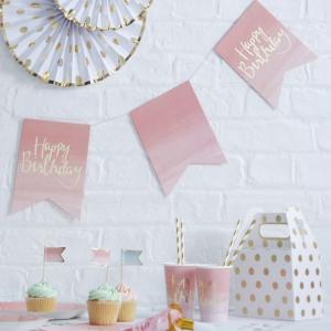 Gold Foiled & Ombre Happy Birthday Bunting - Pick & Mix