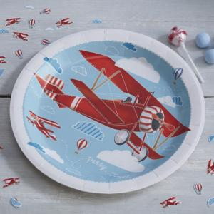 Plane Paper Plates - Flying High