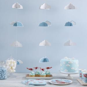 3D Cloud Backdrop Bunting - Flying High