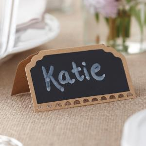 Place Cards Chalkboard Kraft - Vintage Affair
