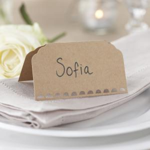 Place Cards Plain Kraft - Vintage Affair