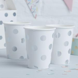 Silver Foiled Polka Dot Paper Cups - Pick & Mix