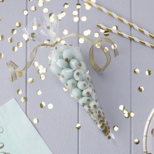 Clear Gold Cone Party Bags - Pick & Mix