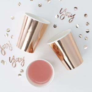 Rose Gold Foiled Paper Cups - Pick & Mix
