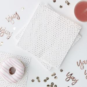 Spotty Rose Gold Foiled Napkins - Pick & Mix