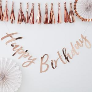 Rose Gold Happy Birthday Bunting - Pick & Mix