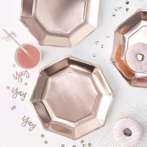 Rose Gold Paper Plates - Pick & Mix
