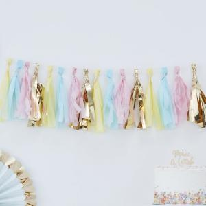 Pastel & Gold Tassel Garland - Pick & Mix Pastel