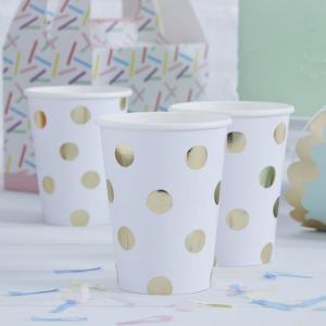 Gold Foiled Polka Dot Paper Cups - Pick & Mix