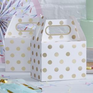 Gold Foiled Polka Dot Party Boxes - Pick & Mix