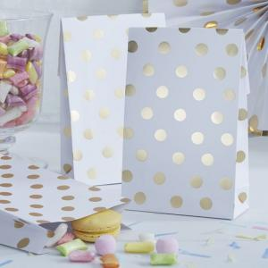 Gold Foiled Polka Dot Party Bags - Pick & Mix