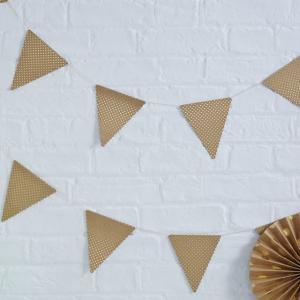 Kraft Gold Foiled Polka Dot Bunting - Pick & Mix
