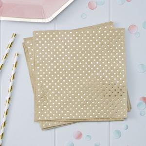 Gold Foiled & Kraft Paper Napkins - Pick & Mix