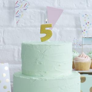 Gold Glitter 5 Number Candle - Pick & Mix