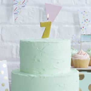 Gold Glitter 7 Number Candle - Pick & Mix