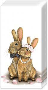 Tissues Eddie In Love - bröllopsnäsdukar