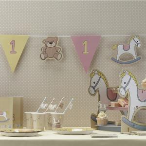 1st Birthday Pink Bunting - Rock-a-bye