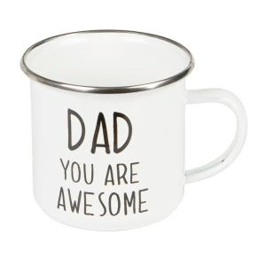 Dad You Are Awesome Enamel Mug - farsdagpresent