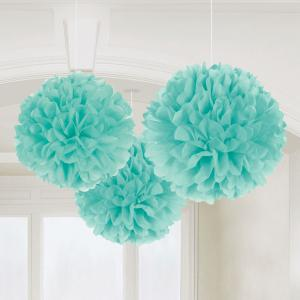 Robin Egg Blue Fluffy Tissue Paper Decorations