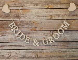 Bride & Groom Garland Large