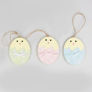 Pastel Easter Egg with Bow Hanging Decorations