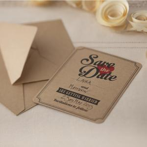 Save the Date Brown Kraft Cards - Vintage Affair