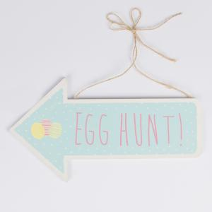 Pastel Easter Egg Hunt Arrow Sign